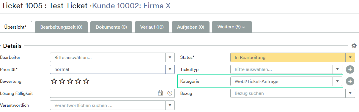 Ticket Kategorie Web2Ticket