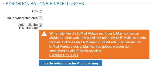 E-Mail Ablage