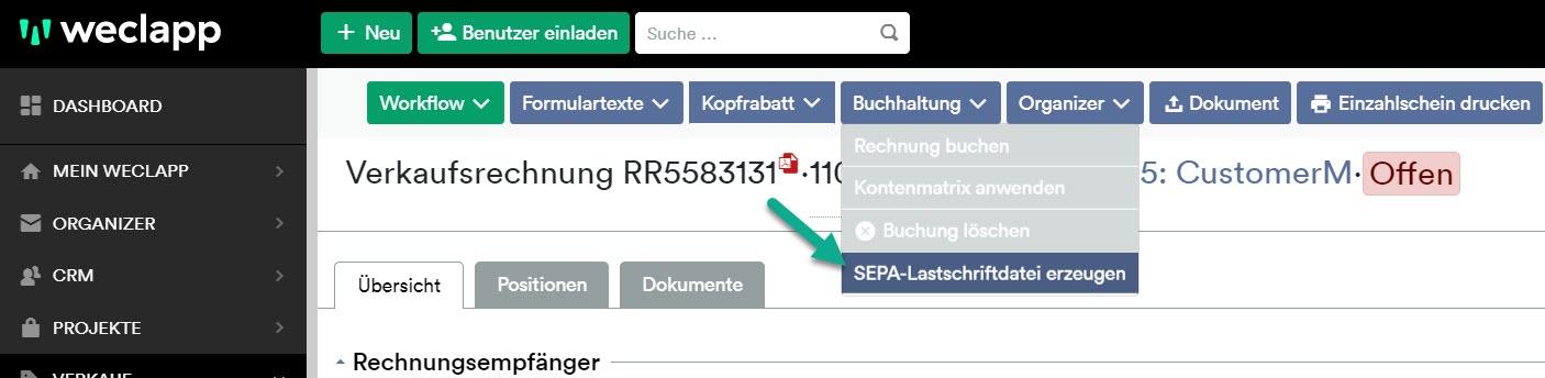 Sepa Lastschrift Datei erzeugen2