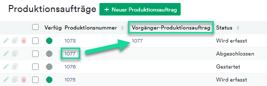 Vorgänger Produktionsauftrag (4)