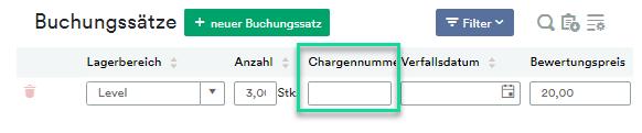 Chargennummer eingeben (2)