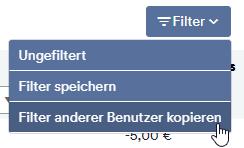 Filter anderer Benutzer kopieren