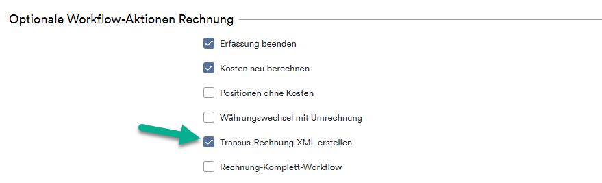Workflow Aktion Rechnung
