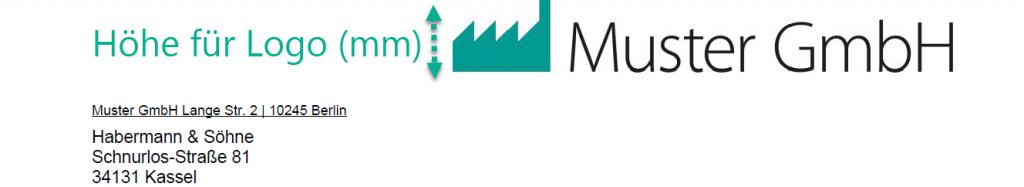Höhe für Logo