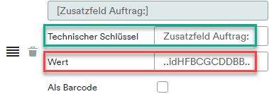 Zusatzfeld in Info-Block