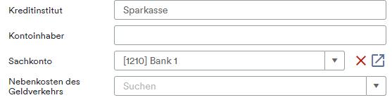 Stammdaten Bank