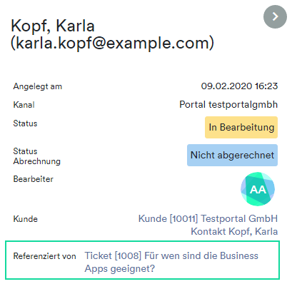 Ticket Referenced By