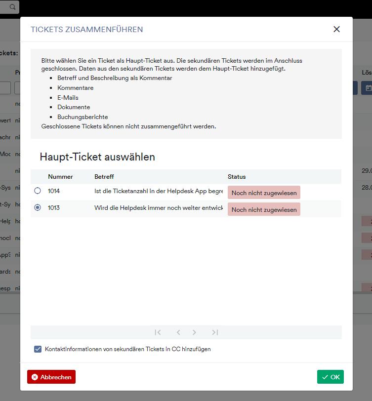 Tickets zusammenführen2