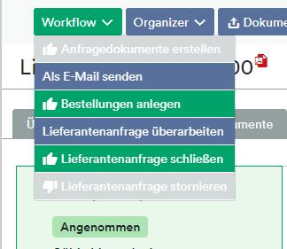 Lieferantenanfrage Workflow Mail