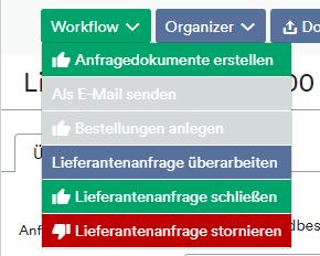Lieferantenanfrage Workflow