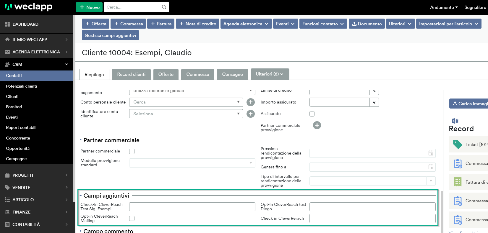 Liste nei contatti