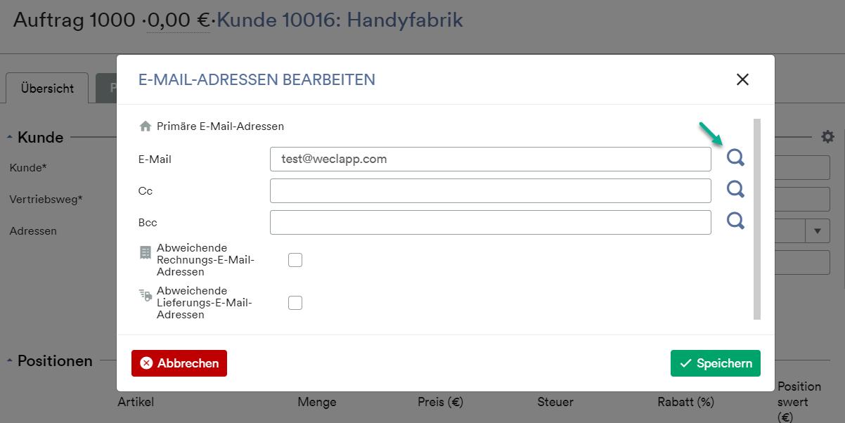 Email Adresse suchen